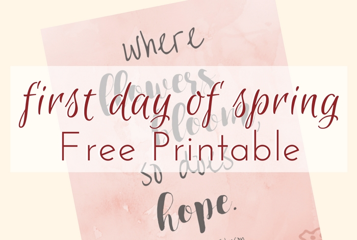 Happy first day of spring! Add a little bit of this sweet season to your home with this First Day of Spring Printable Where Flowers Bloom.