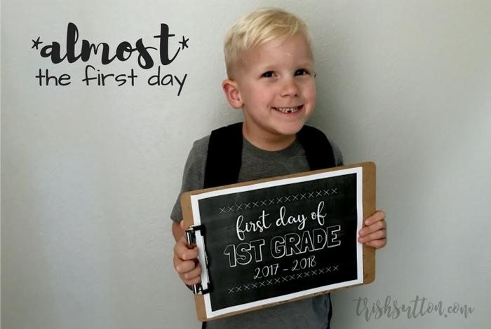 Printable Chalkboards for the First Day of School; Preschool thru High School. TrishSutton.com
