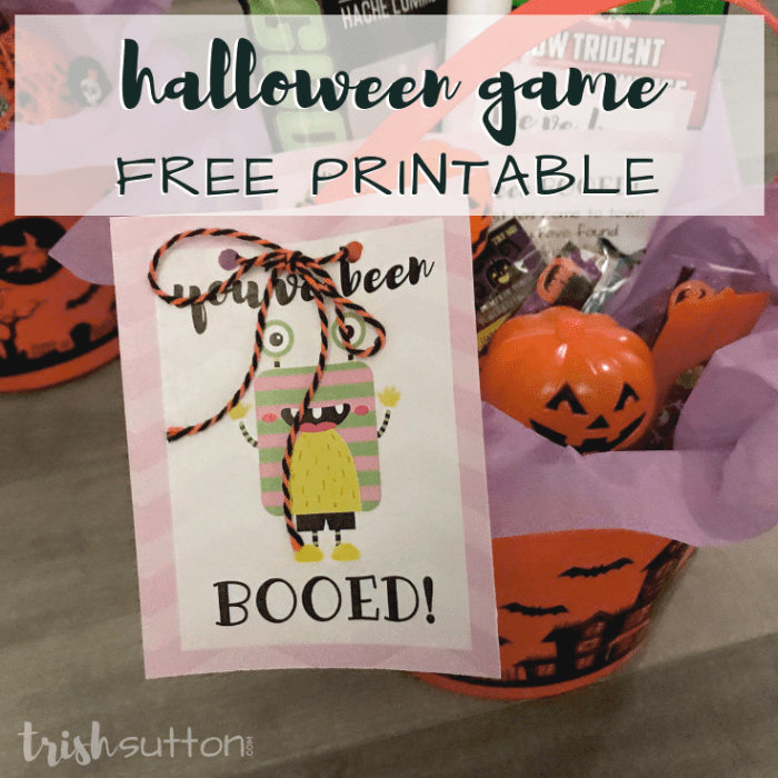 You've Been Booed is a simple game and fun way to treat neighbors and friends during the Halloween season. You've Been Booed Halloween Fun Free Printables. TrishSutton.com