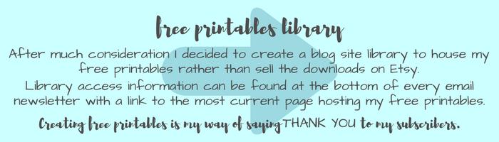 Free Printables Librar