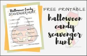 Halloween Candy Scavenger Hunt Free Printable; TrishSutton.com