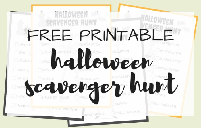 Halloween Scavenger Hunt Free Printable; TrishSutton.com