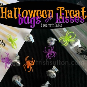 Halloween Treat Bugs & Kisses Printable; TrishSutton.com