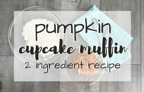 Pumpkin Cupcake Muffins; Simple Two Ingredient Recipe. Is it a cupcake or is it a muffin? There is a cake mix in the recipe but there is no frosting. TrishSutton.com