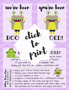 You've Been Booed is a simple game and fun way to treat neighbors and friends during the Halloween season.You've Been Booed Halloween Fun Free Printables. TrishSutton.com