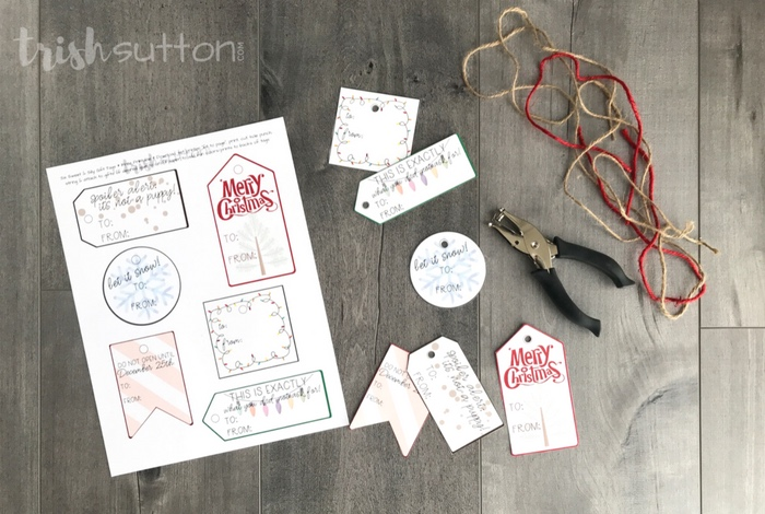 Save time and money while adding a little fun to gift wrapping with my Free Printable Christmas Gift Tags.Simply print, cut out, hole punch & attach.