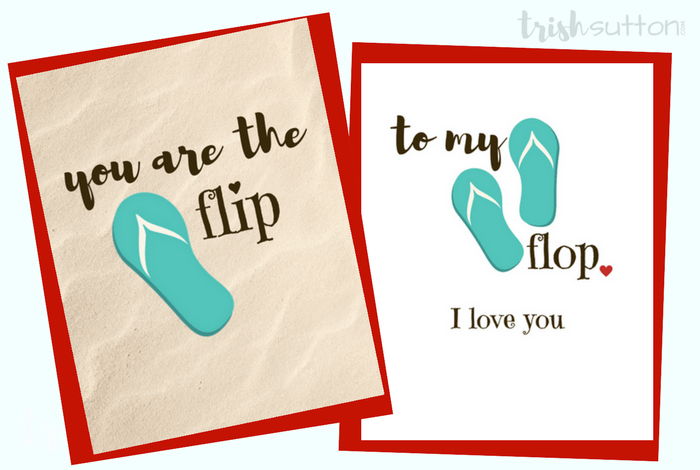 flip flop greeting cards three free printables to show love say happy anniversary