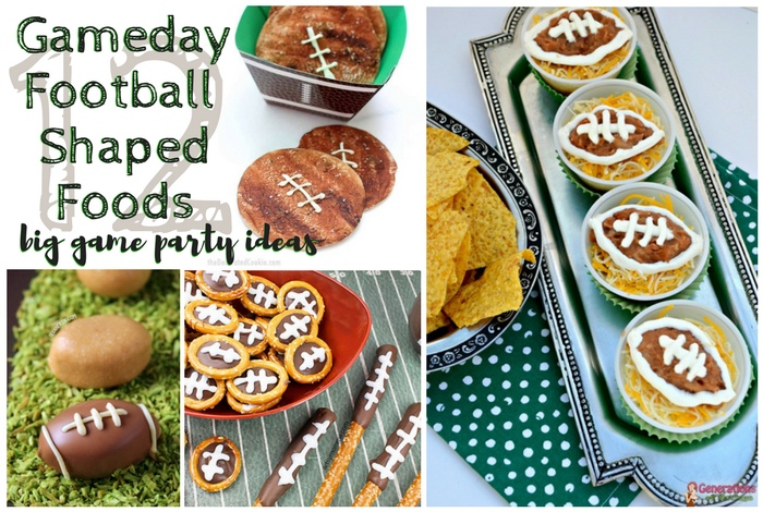gameday football shaped foods big game party ideas