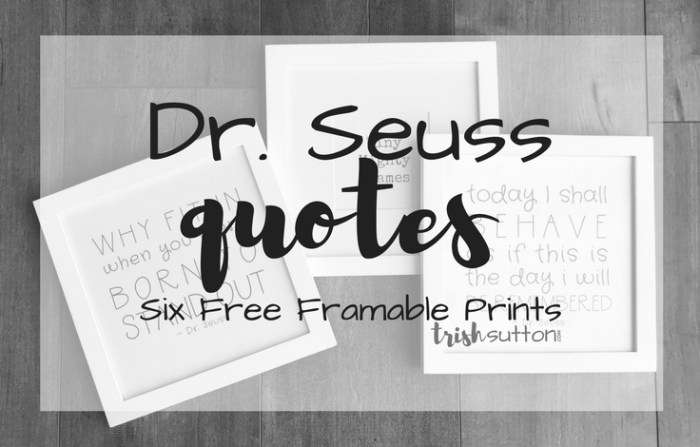 Dr. Seuss Quotes Six 8x8 Prints; trishsutton.com