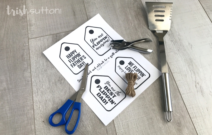Grilling Gift Tags; Four Flippin Free Printables, TrishSutton.com