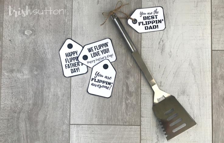 Grilling Gift Tags; Four Flippin Free Printables, TrishSutton.com