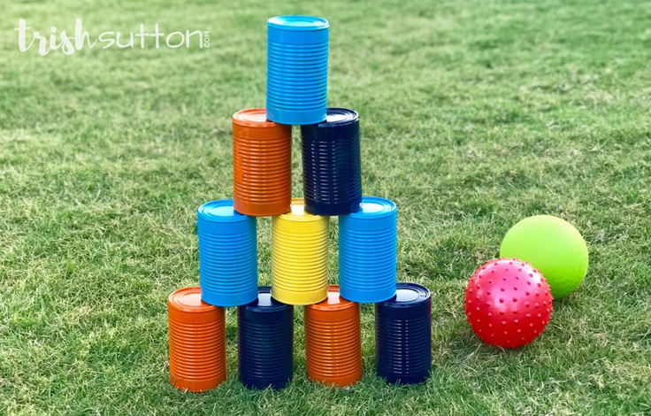 DIY Bowling Game - Upcycled Outdoor Activity; Camping Game Backyard Game - TrishSutton.com