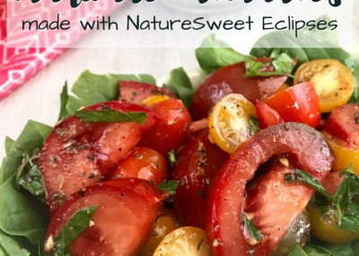 Marinated Tomatoes Recipe; Made with NatureSweet Eclipses, Trishsutton.com #ad