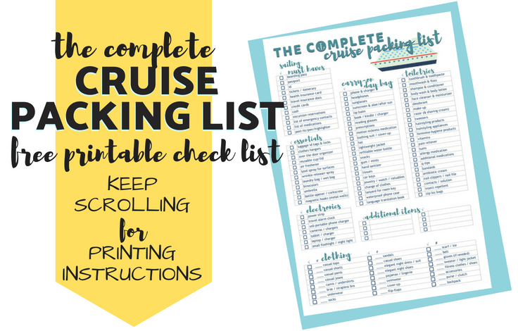 It is a picture of Printable Cruise Packing List regarding cottage clothing