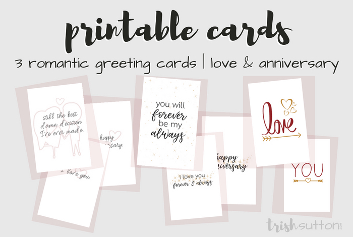 Printable Romantic Greeting Cards