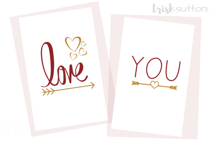 Love You Greeting Card Printable Romantic