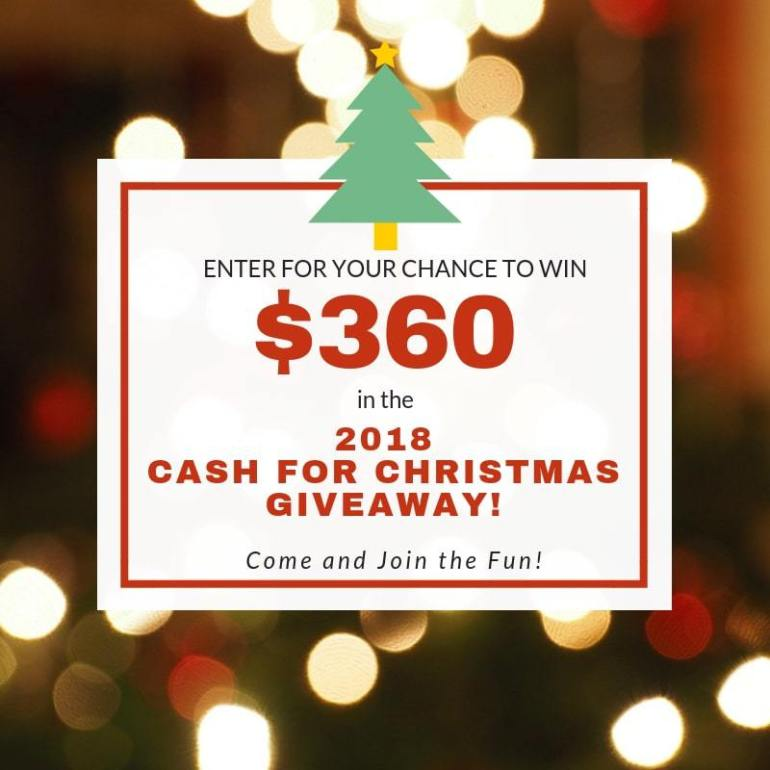 Christmas Cash Giveway; Enter to win 6 gift cards just in time for Black Friday shopping. Giveway ends at midnight on 11/22/2018. TrishSutton.com