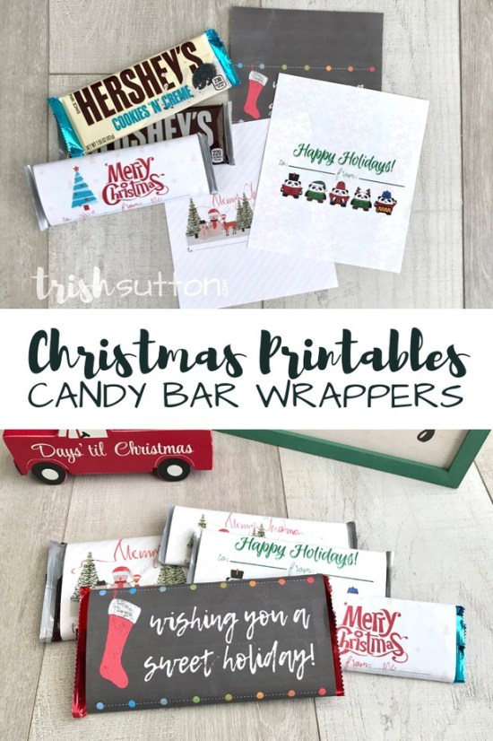 Free Printable Candy Bar Wrappers | Simple Sweet Christmas Gift TrishSutton.com