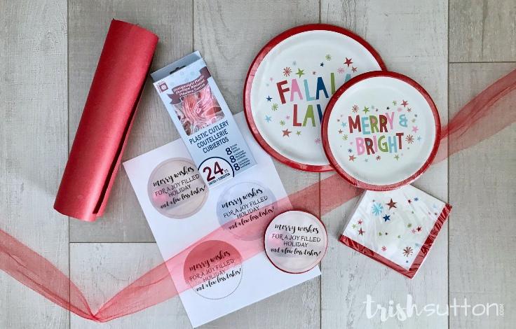 Christmas Dishes Gift Merry Wishes Printable | TrishSutton.com