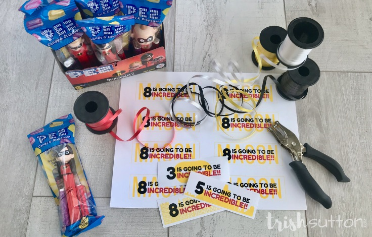 Incredibles Party Favor Birthday Printables (ages 1-10) TrishSutton.com