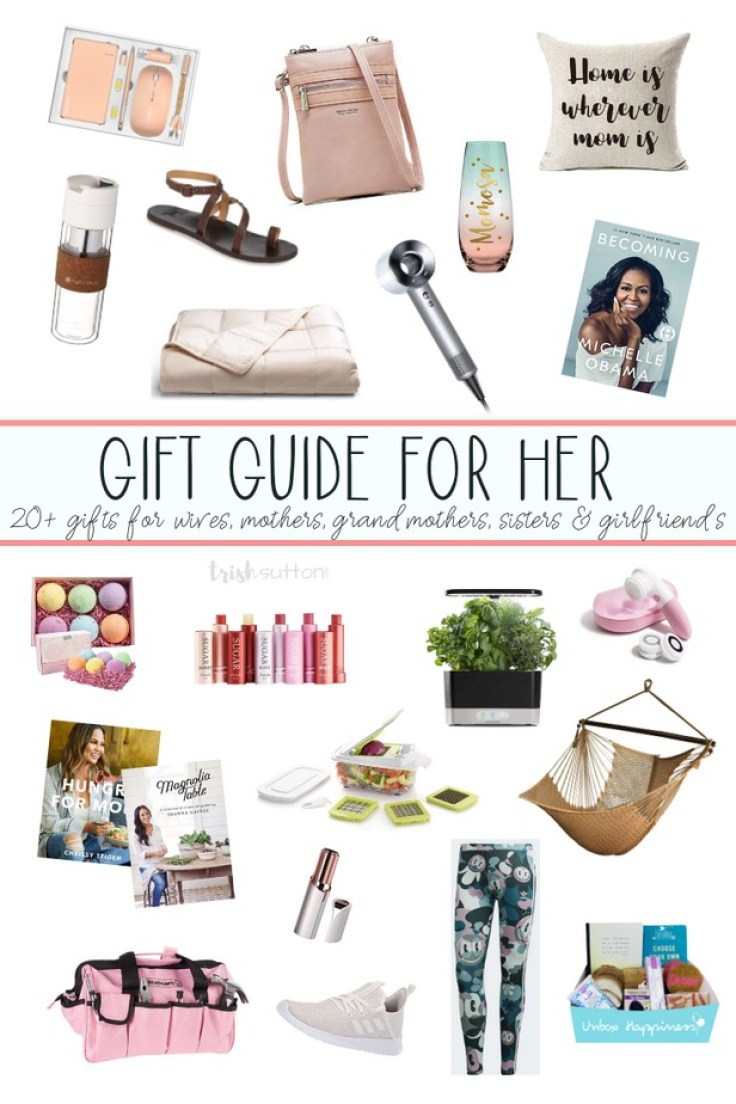 Gift Guide for the Ladies | 20+ Gift Ideas and Mother's Day. Gifts for wife, mother, grandmother, girlfriend and sister. #mothersday #giftideas #bytrishsutton
