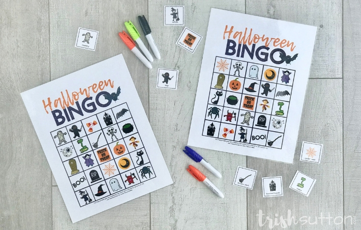 Printable Game Cards with five dry erase markers