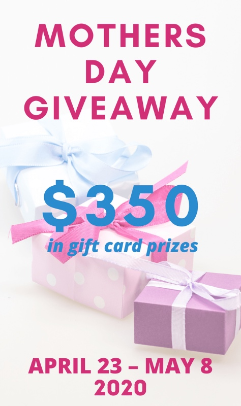 Also, included with this list of fabulous gift ideas is a chance to win the 2020 Mother's Day Gift Card Giveaway. (Entry is April 23, 2020 - May 8, 2020.)