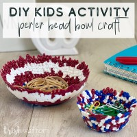 DIY Kids Activity Perler Bead Bowl Craft