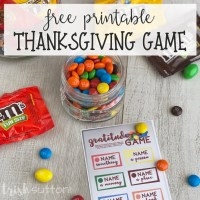 Free Printable Thanksgiving Activity Gratitude Game