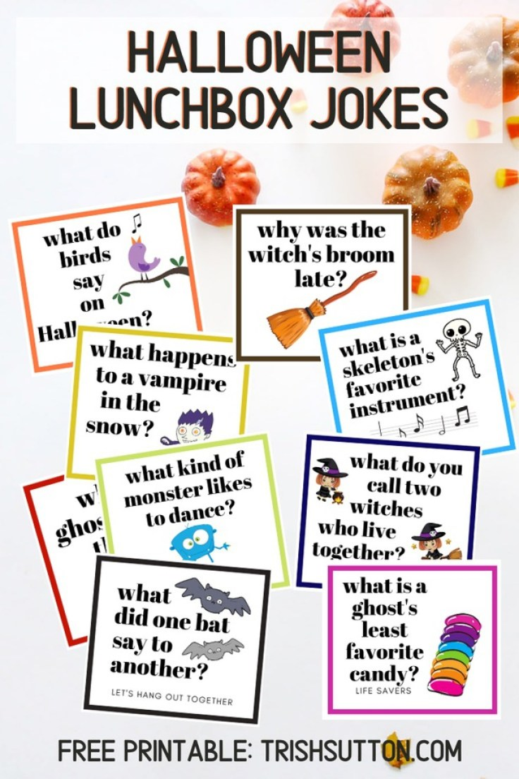 Vampires, witches and ghosts make the best lunchbox giggles! Add Halloween Jokes to your kiddo's lunch break with this free printable.