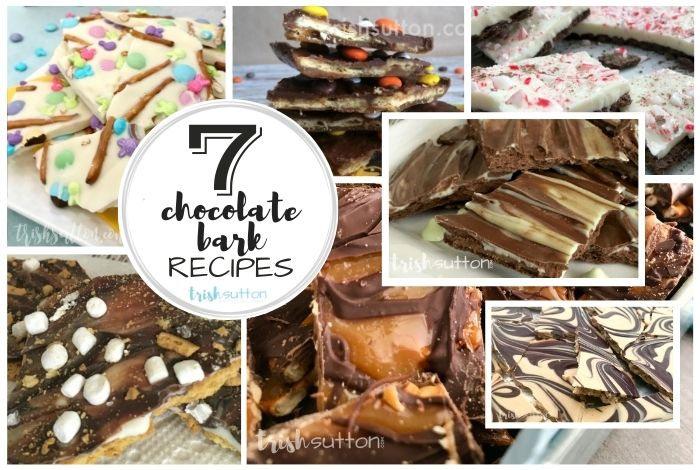 7 Cookie Bark Images in a collage