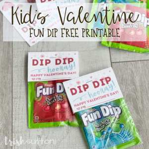 Dip Dip Hooray! Share a sugary sweet Valentine treat with this Fun Dip Kid's Valentine Free Printable.