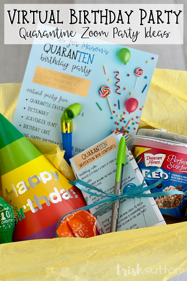 Virtual Birthday Party Ideas for celebrating with family amidst a global pandemic. The party must go on & we had to think outside of the box!