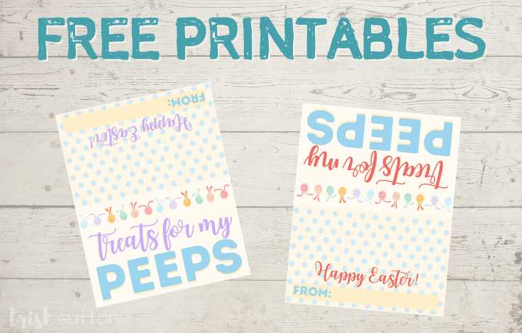 Share a sweet Easter gift with family, friends, neighbors and classmates with these adorable Treats for my Peeps free printables!