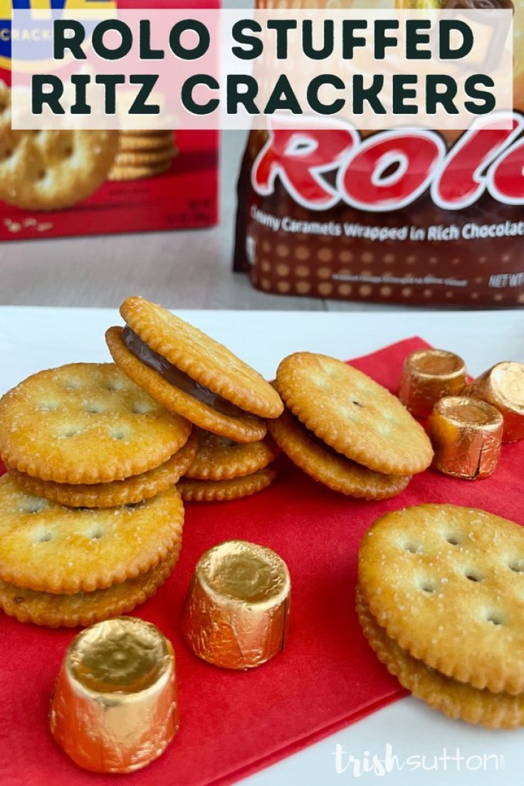 Together the combination of Rolo and Ritz create a perfectly blended Sweet and Salty Treat.