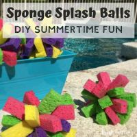 Sponge Splash Balls DIY Summertime Fun