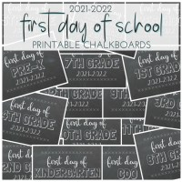 First Day of School Free Printable Chalkboards