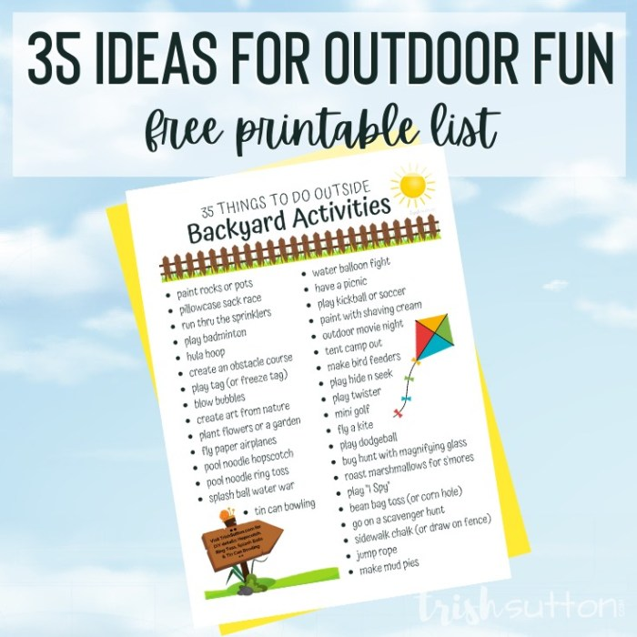 Backyard Activities | 35 Things To Do Outside