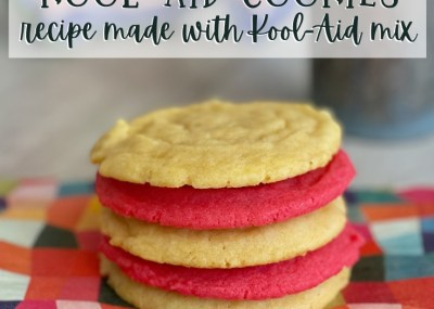 """Create colorful and flavorful cookies with this simple Kool-Aid Cookies Recipe.Kool-Aid man and kid approved, """"OH YEAH!"""""""