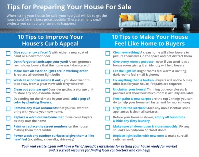 20 Tips for Preparing Your House for Sale [INFOGRAPHIC]