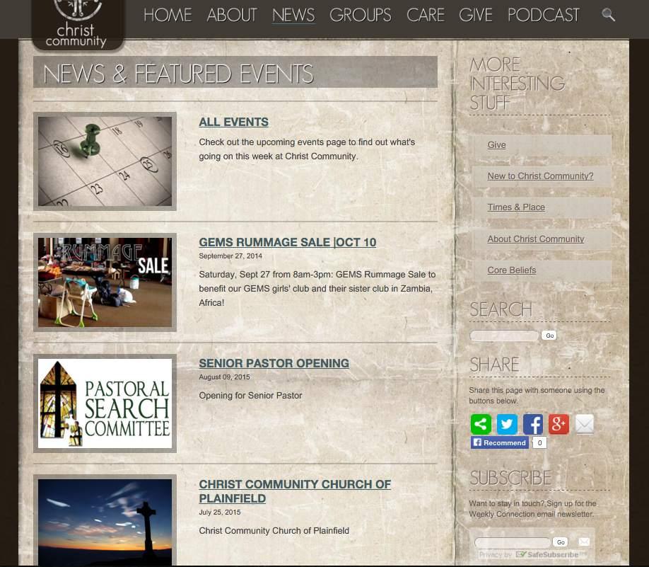 Web Design: Christ Community