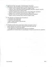 Town Meeting/Parliamentary Procedure Quiz (pg. 2)