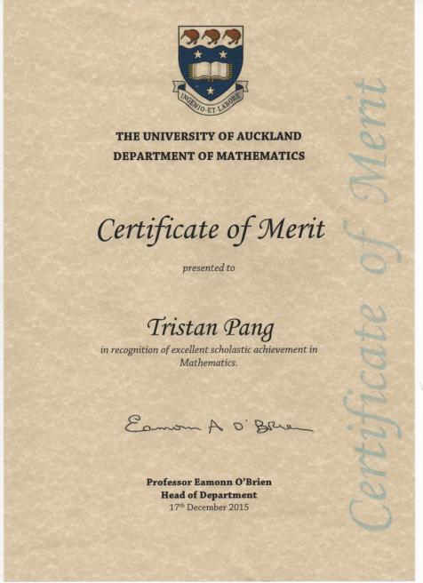 uoa maths merit