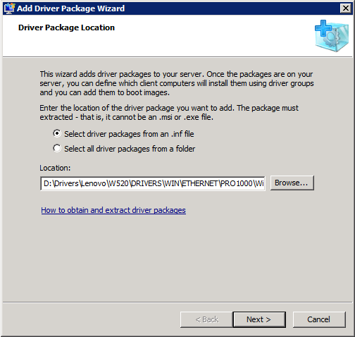 WDS SelectINF Adding Drivers to Windows Deployment Services Boot Images
