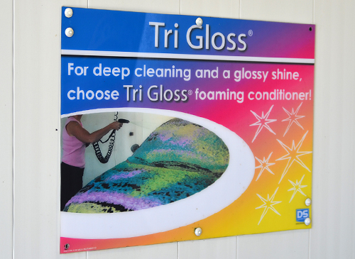 Self Serve Car Wash Bay Tri-Gloss Signage distributed by Tri State Car Wash Solutions