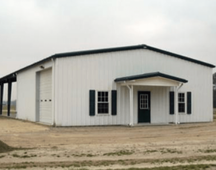 American Steel Multi-Purpose Garage built by Tri State Car Wash Solutions, Griggsville, IL