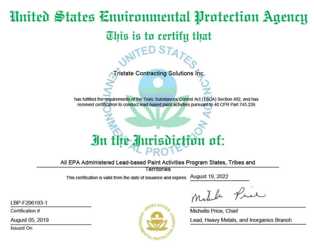 Lead Paint Removal Cost 2020 Epa Certificate Contractors