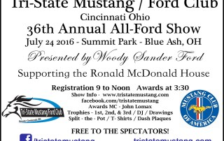 Tri-State Mustang/Ford-Club 2016 36th Annual All Ford Show