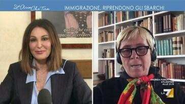 """Daniela Santanchè contro Maria Teresa Meli: """"Con la vostra politica buonista fate morire le …"""