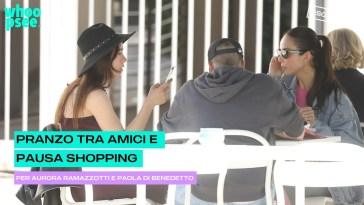 Pranzo tra amici e pausa shopping per Aurora Ramazzotti e Paola Di Benedetto